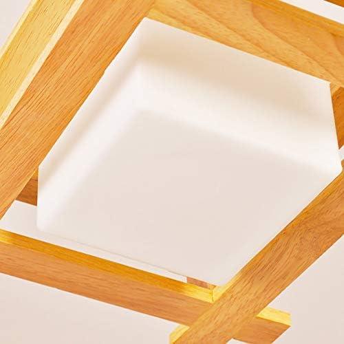 WandaElite Chandelier Modern Minimalist Creative LED Oak + Glass Adjustable Bedroom Living Room Dining Room Study Ceiling Lamp/Lamp Quality Decorative Light
