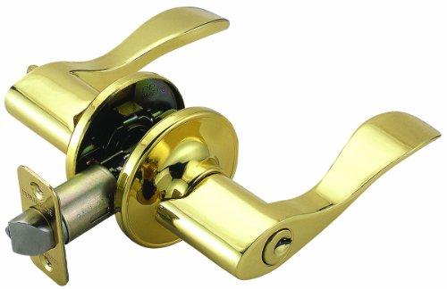 (Design House 700468 Springdale 2-Way Adjustable Entry Door Handle, Polished Brass)