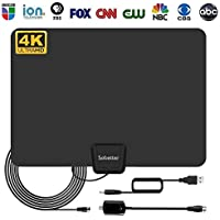 Sobetter 50-80 Miles Range Digital HD TV Antenna for All TVs [2018 Upgraded]