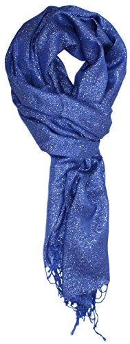 Ted and Jack - Hollywood Dreams Sparkling Metallic Scarf in Cobalt Blue