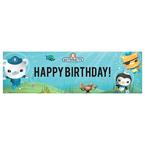 Canvas Birthday Banner - The Octonauts Party Supplies - Vinyl Birthday Banner 18