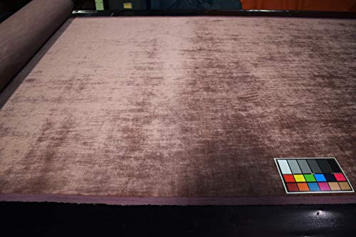 by The Yard- Dusty Rose Pink Crushed Velvet Upholstery Suede Fabric 53