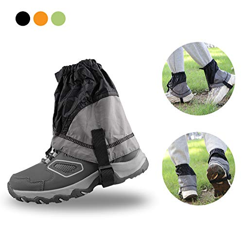 AMYIPO Lightweight Trail Gaiters Unisex Travel Snow Leg Low Gaiter for Hiking Walking Climbing Hunting Cycling, Men Women