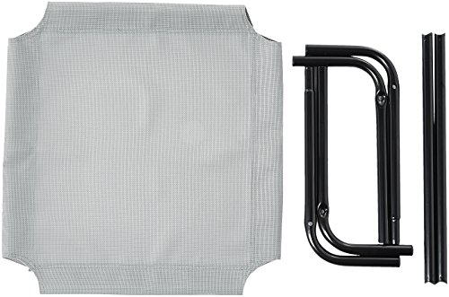 41pORPdR6GL Amazon Basics – Erhöhtes Haustierbett mit kühlender Wirkung, Gr. M, 110 x 65 x 19 cm, Grün