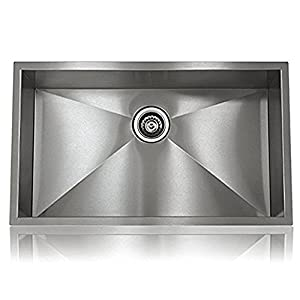 Stainless Single Steel Hand Made Undermount Kitchen Sink, Home Design MODEL  S SS S3118 34RI 18