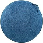 Explopur Ball Protective Cover, 55cm/65cm/75cm Cotton+Linen Protective Yoga Ball Cover Exercise Ball Protectio
