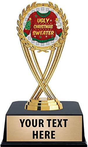 Crown Awards Ugly Christmas Sweater Trophies with Custom Engraving, 6