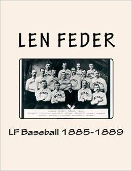 Book LF Baseball 1885-1889