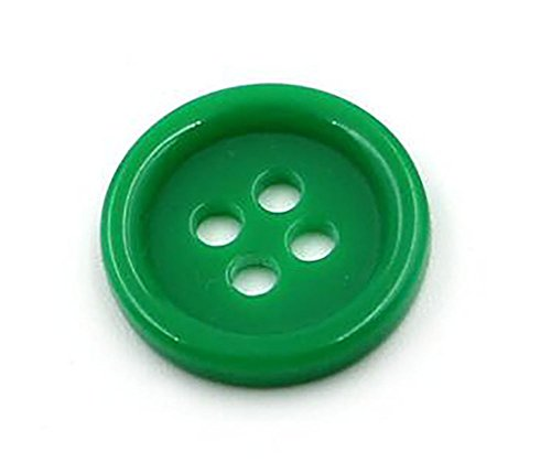 50PCS 1.18 Diameter Large Size Thick Round Smooth Resin 4 Hole Button for DIY Craft Sewing Embellishment Accessory (Green)