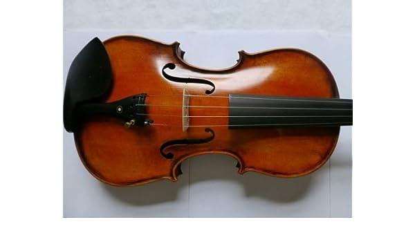 Hecho a mano de violín de bien flameado vuelta de arce modelo a Stradivarius 1715: Amazon.es: Instrumentos musicales