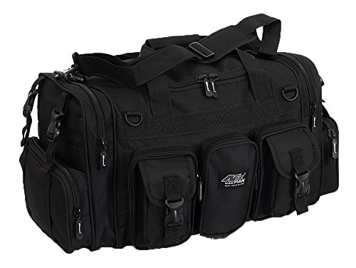 Mens Large 22″ Inch Black Duffel Duffle Military Molle Tactical Gear Shoulder Strap Travel Bag