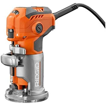 RIDGID 5.5 Amp Corded Compact Power Trim Router with Micro-Adjust Dial R24012