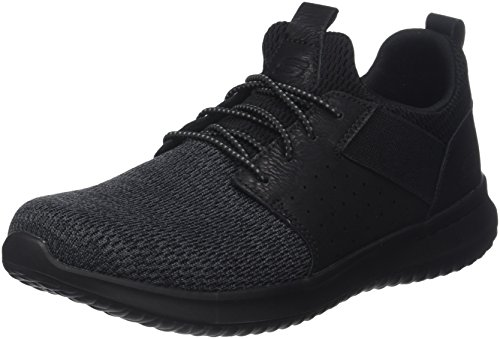 Air Cooled Shoes - Skechers Men's Classic Fit-Delson-Camden Sneaker,black,12 M US