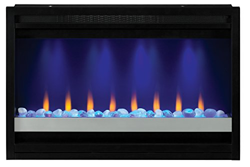 ClassicFlame 36EB221-GRC 36' Contemporary Built-in Electric Fireplace Insert, 240 volt