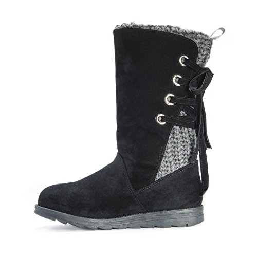 Pictures of MUK LUKS Women's Luanna Boots Fashion Black 7 M US 4