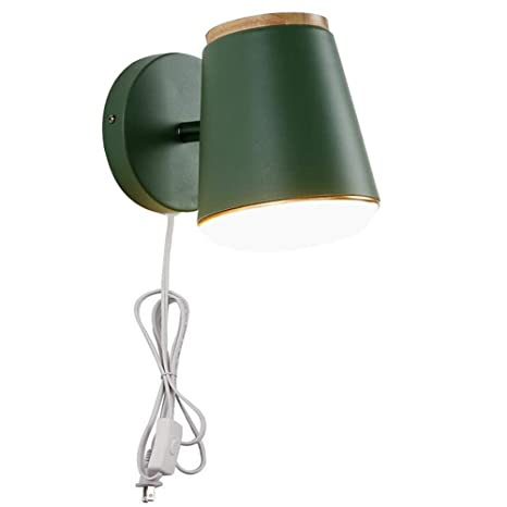 Amazon com: Kiven 1-Light Plug in On/Off Switch Wall Sconce