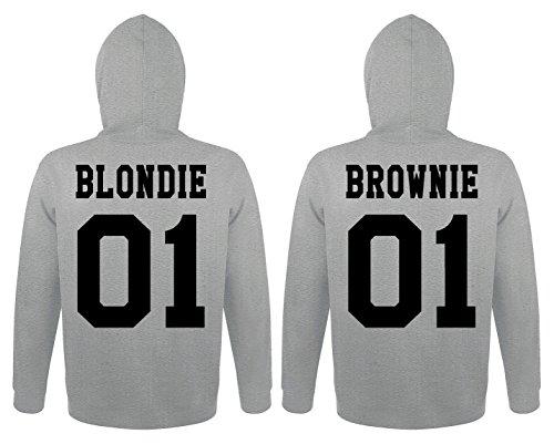 TRVPPY 2X Pareja Suéter Sudadera con Capucha/Modelo Blondie & Brownie/para Hombre & Mujer, en Muchos Colores Diferentes/Hooded Sweat Hoodie: Amazon.es: Ropa ...