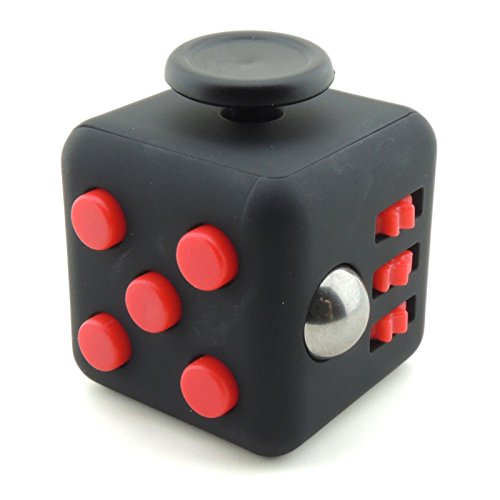 Price comparison product image Fidget Cube Toy Relieves Stress ADHD Anxiety And Helps Focusing for Kid & Adult (Red)