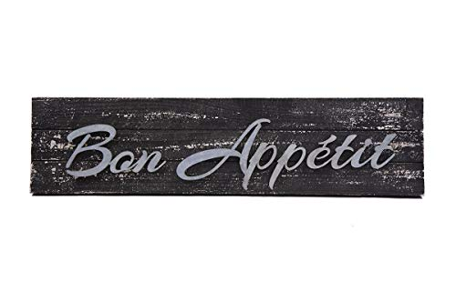 """(Designstyles Vintage Kitchen Decor Plaque – """"Bon Appetit"""" Decorative Wooden Wall and Door Living and Dining Room Sign - Classic Housewarming and Hostess Gifts - Stylish Urban Chic Design)"""