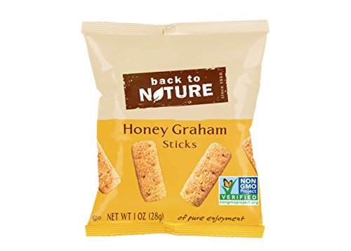 Back to Nature Non GMO Grab & Go Crackers, Honey Graham Sticks, 1-Ounce, 8 Count