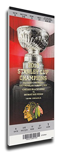 NHL Chicago Blackhawks 2010 Stanley Cup Champions Banner Raising Mega Ticket
