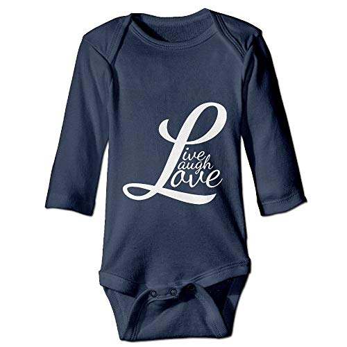 Printed Live Laugh Love Retro Cute Newborn Infant Baby Girls Long Sleeves Jumpsuits Playsuit Outfits -
