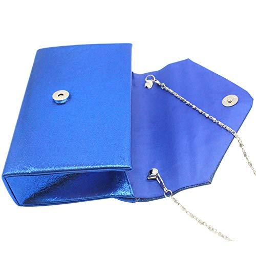 Brillant Main Enveloppe Clair Pailleté Rabat Sac Bleu a Rose Besace Pochette 0qRfEx