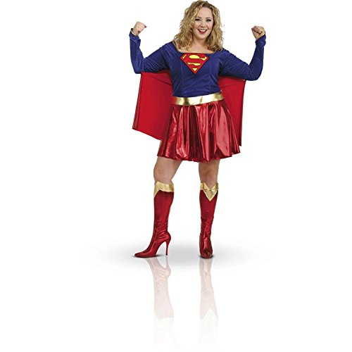 DC Comics Supergirl Plus Size Adult Costume - Halloween Costumes Womens Plus Size