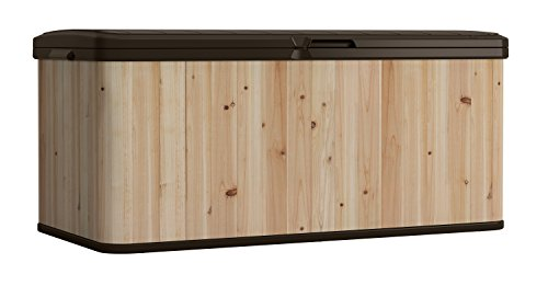 Suncast WRDB12000 Wood and Resin Deck Box by Suncast