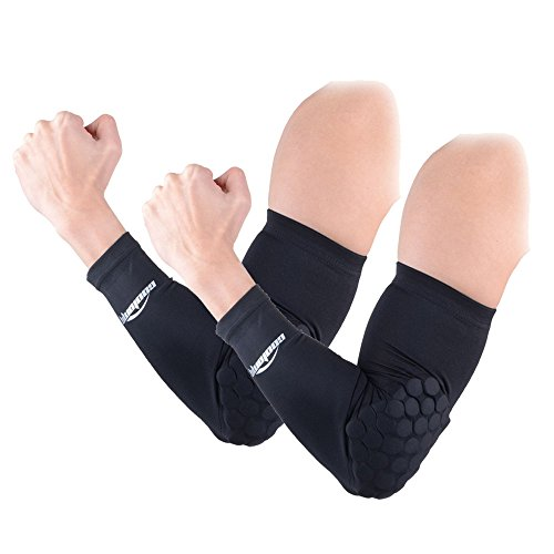 COOLOMG 2PCS Child Kids Combat Basketball Pad Protector Gear Shooting Hand Arm Elbow Sleeve Adult Child Black XS