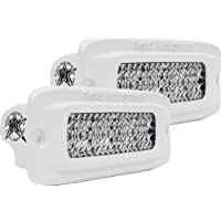 Rigid Industries 96551 M-Series SRQ 60° White Lens Flush Mount, (Set of 2)