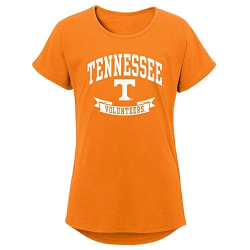 NCAA Tennessee Volunteers Youth Girls Short Sleeve Dolman Tee, Youth Girls Medium(10-12), Orange by Gen 2
