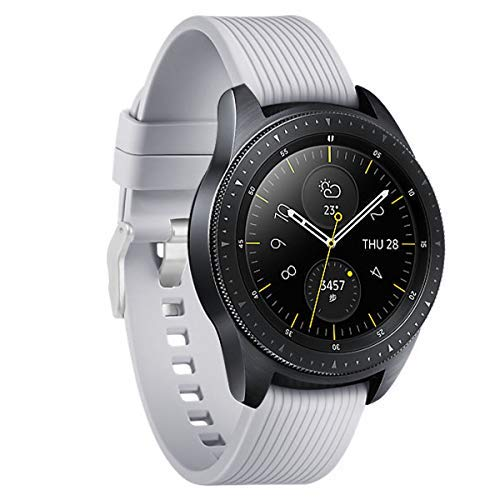 Aimtel Compatible Samsung Galaxy Watch Active (40mm) Bands, 20mm Soft Silicone Sport Band Replacement Strap with Pin Compatible Samsung Galaxy 40mm Watch(Grey)