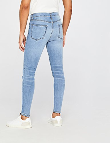 Bleach Rotos FIND Skinny Super Hombre Jeans Wash con Azul rFI0xFwq