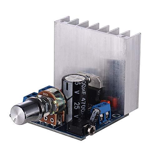 Festnight Stereo 2.0 Audio Amplifier Module 15W + 15W Dual-Channel Mini Amp Board Amplify DIY Circuit Board with Heatsink