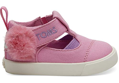 TOMS Kids Baby Girl's Sesame Street¿ Joon (Infant/Toddler) Pink Abby Face Canvas 3 M US Infant -