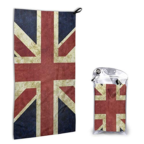 Microfiber Towel Fast Drying Super Absorbent Vintage Union Jack for Sports, Travel, Beach, Camping