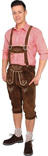 Bayerisches Trachtenhemd in rot, Bayrisches Trachten Hemd Herren Oktoberfest Größe S, M, L, XL, XXL, XXXL