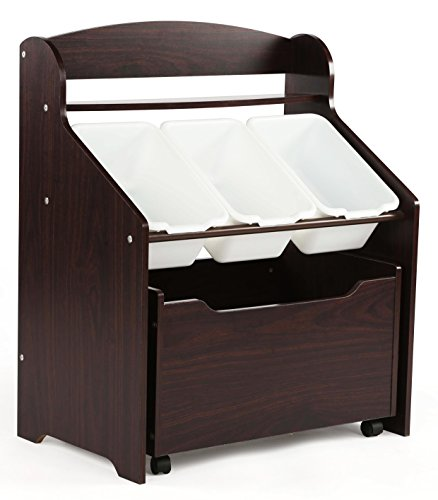 Tot Tutors Kids' Store-All Unit, Espresso - Tote Store Box
