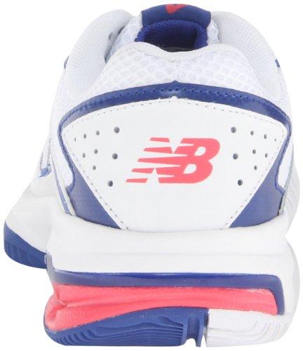 888098093469 - New Balance Women's WC786 Tennis Shoe,White/Pink,6 D US carousel main 1