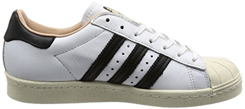adidas Womens Superstar 80s White Leather Trainers 8.5 US gq41XcAHs
