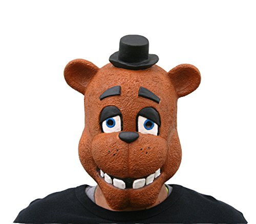 Freddy Fazbear Costume Real (MyPartyShirt Freddy Adult Mask Five Nights At Freddy's)
