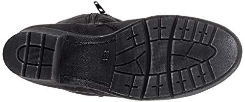 001 21 black Boots Softline 25661 Black High Women's TqpxPSw0