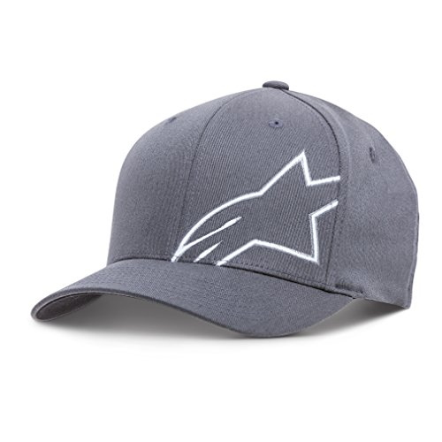 Alpinestars Mens Logo Flexfit Hat Flat Bill Structured Crown