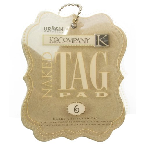 K&COMPANY Urban Rhapsody Naked Chipboard Tag Pad
