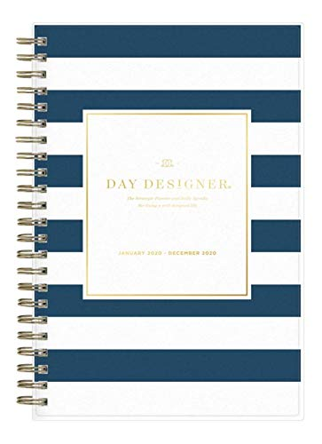 - Day Designer for Blue Sky 2020 Year Daily & Monthly Planner, Flexible Cover, Twin-Wire Binding, 5