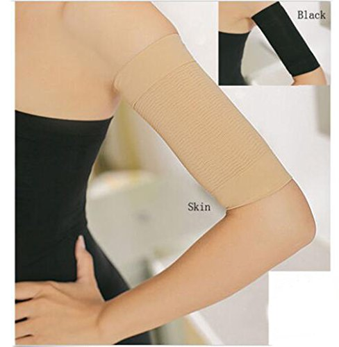 Yosoo Fashion Fat Burning Massage Slimming Arm Shaper Slimmer Weight Loss Calorie Cellulite Fat Buster Off Wrap Belt Band for Women Lady Girls ()