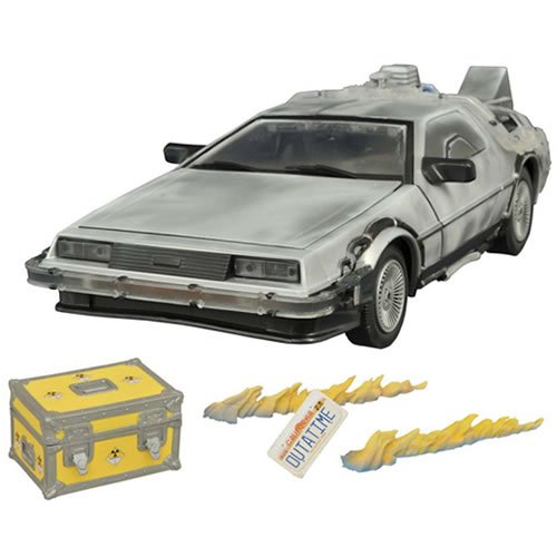 Price comparison product image Back to the Future Iced Time Machine Collector Set Vehicle