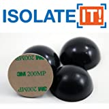 """1.5"""" Sorbothane Hemisphere Rubber Bumper Non-Skid Feet with Adhesive 50 Durom..."""