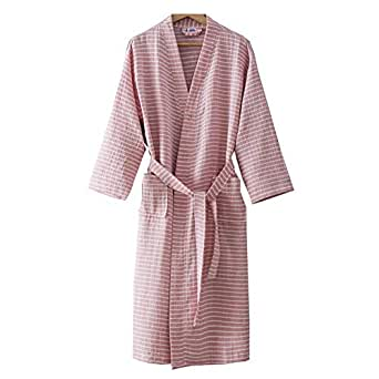 Vestido de algodón de Punto para Mujer Kimono japonés Pijama de ...